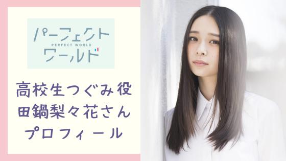 パーフェクトワールドつぐみの高校時代の女優は誰⁈山本美月さんに似てる⁈
